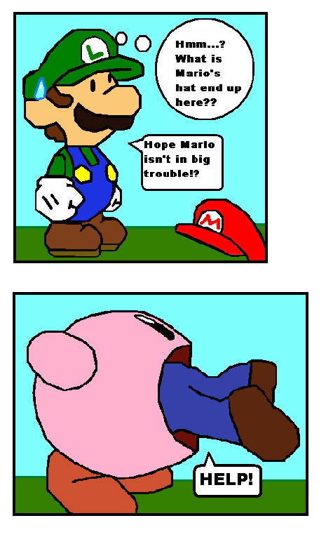 Kirby Eating Mario by 7kmart on DeviantArt