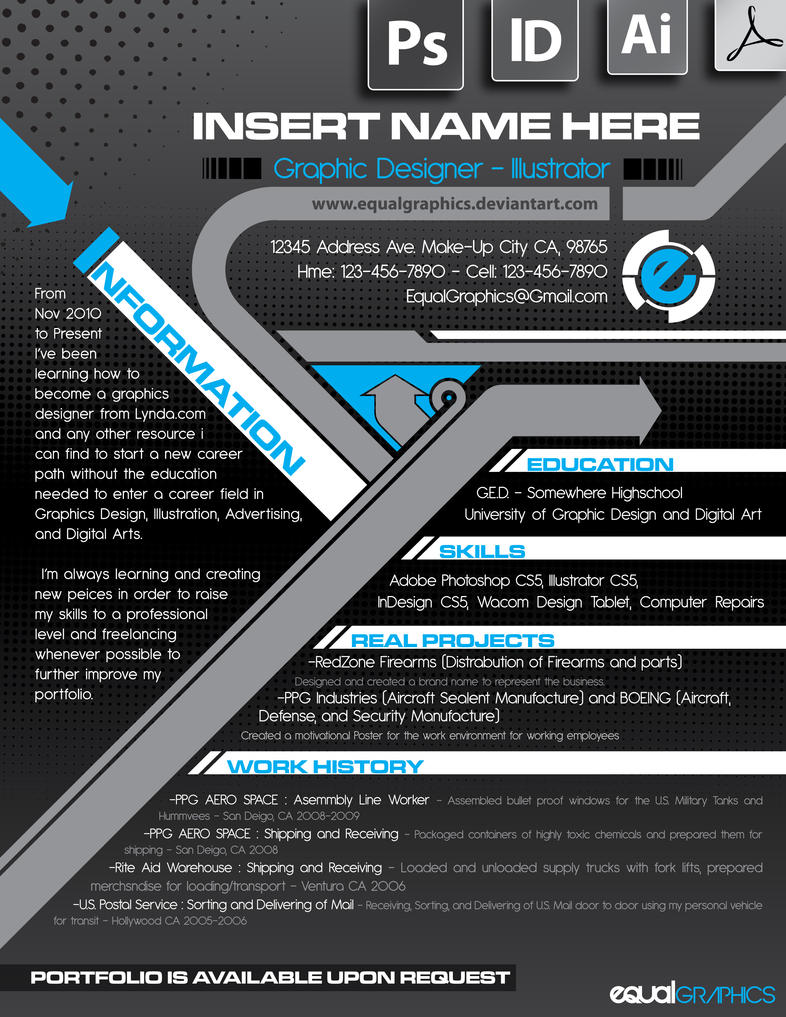 Resume Example by EqualGraphics on DeviantArt