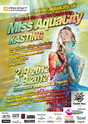Miss AquaCity 2012 casting Poster