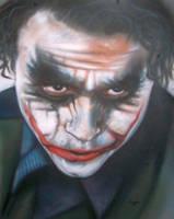 Heath Ledger 'Joker' by magaggie