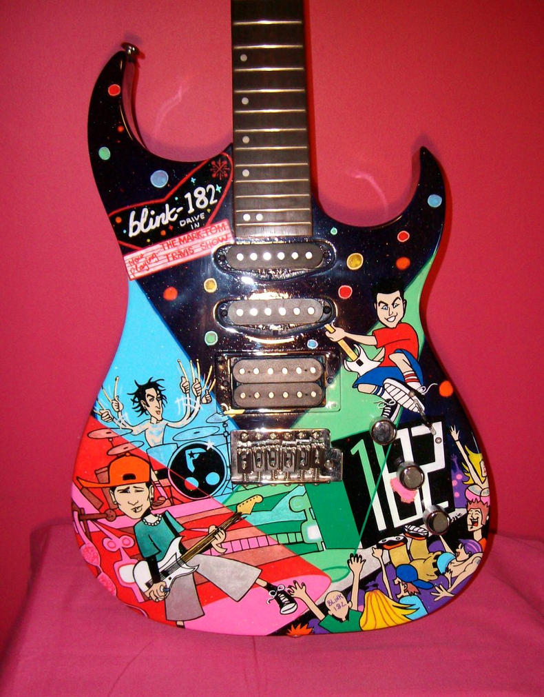 Blink 182 guitar by magaggie