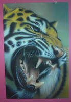 airbrushed tiger by magaggie