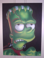 airbrushed bart simpson by magaggie