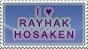 I :heart: Rayhak Hosaken Stamp by Marthnely-chan