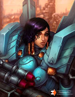 Pharah Portrait by EnigmaticEnigma