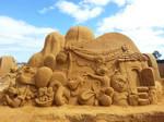 Winnie the Pooh Sand Sculpture
