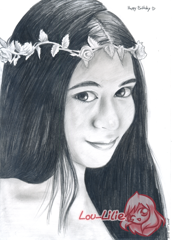 Pencil Portrait - Pia by Lou-Lilie