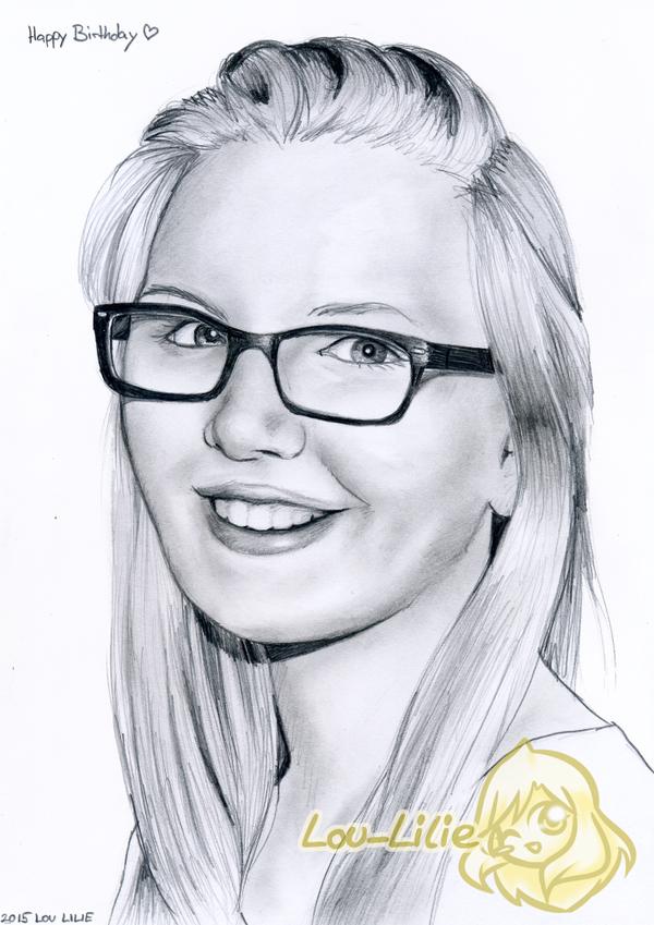 Pencil Portrait - Caro by Lou-Lilie