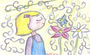 Violet in the Sunshine