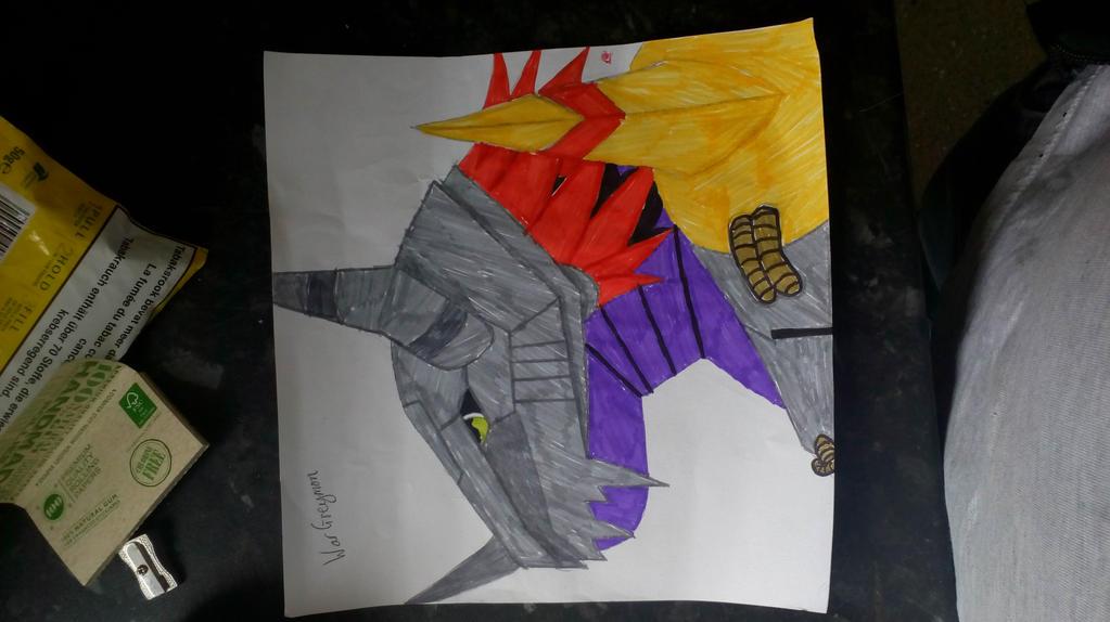 My WarGreymon with colour by Chunkinator9000