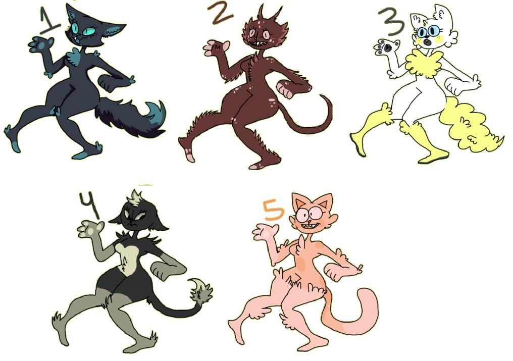 ADOPTABLES | C A T - G I R L S (OPEN 4/5) by Moonfrox