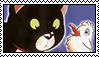 lucky and zorba stamp by sguegue
