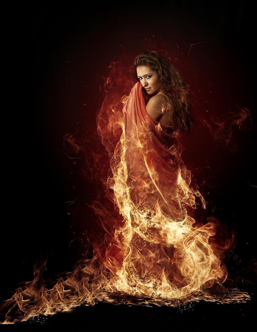 fire princess by whiteyellow