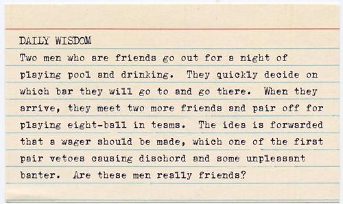 Daily Wisdom - Friends by jisaacs1962