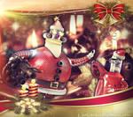 Robot Santa Christmas Card