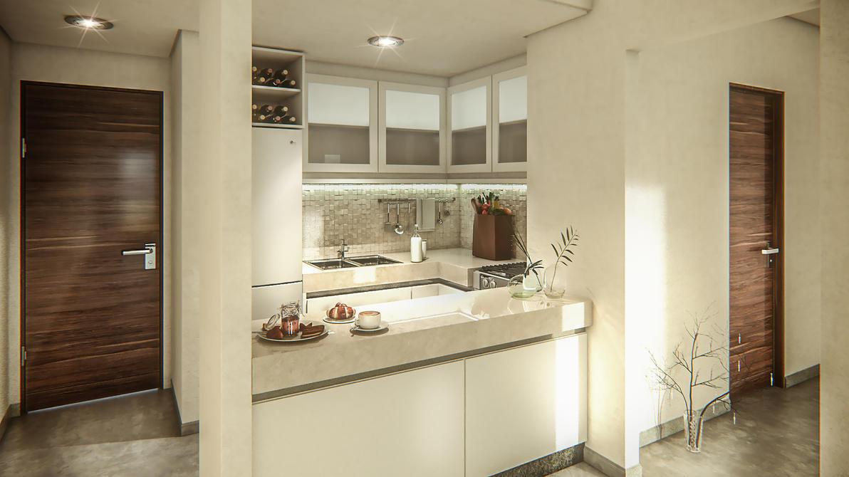 ArchViz Interior Kitchen by Bman2006