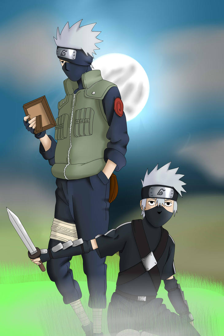 Kakashi and kakashi kid ^^ by freaky135