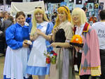 Sophie, Alice, Aurora and Wizard Howl