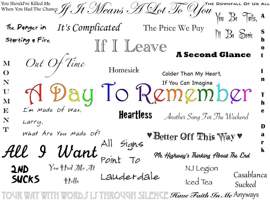 A Day To Remember by  A Day To Remember Lyrics Wallpaper