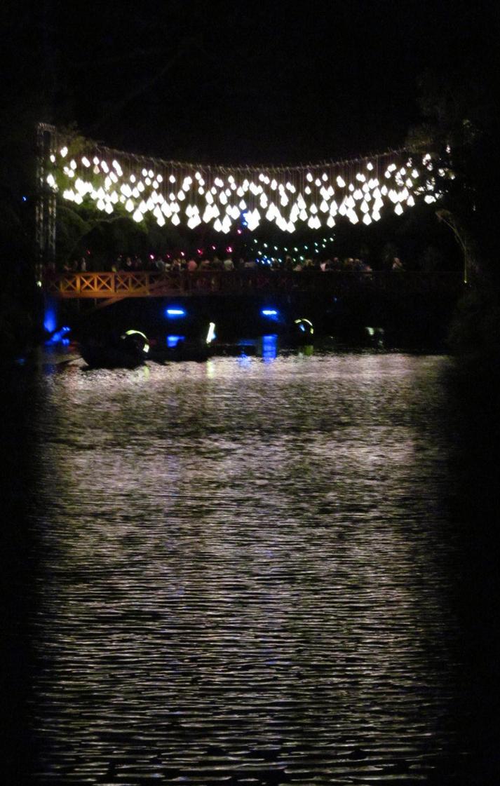 Lantern bridge by Gazing-at-the-Stars