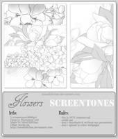Flowers Screentones by MissDidichan