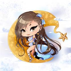 Luna chibi for Huion