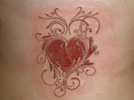 Heart Design Tattoo by KB1412