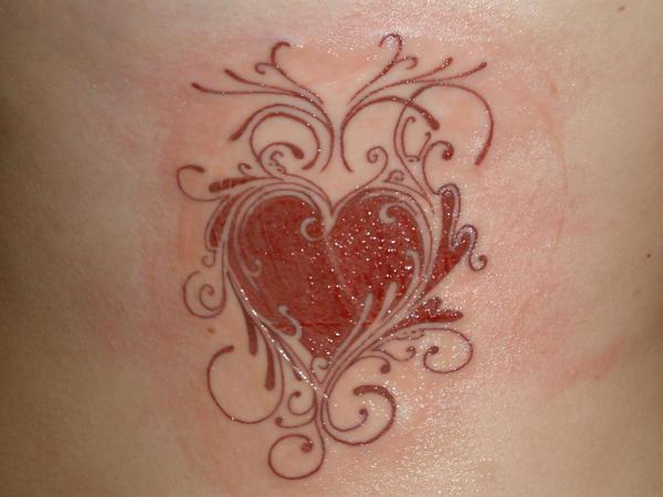 heart design tattoo by kb1412 on deviantart. Black Bedroom Furniture Sets. Home Design Ideas