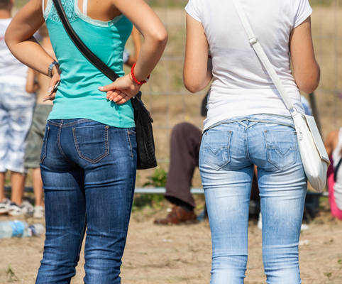 Two nice butt in jeans