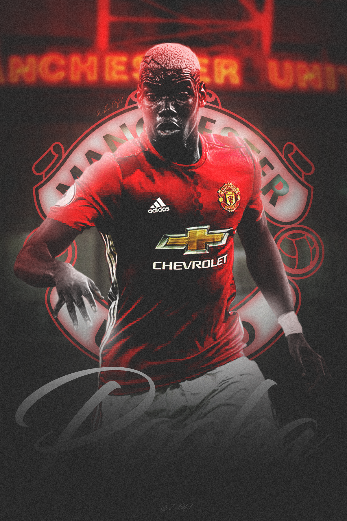 Paul Labile Pogba Manchester United S Debut 2017 By Futedit On Deviantart