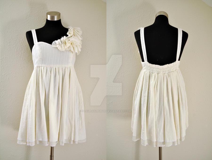 Winter Frill Dress by laurabububun