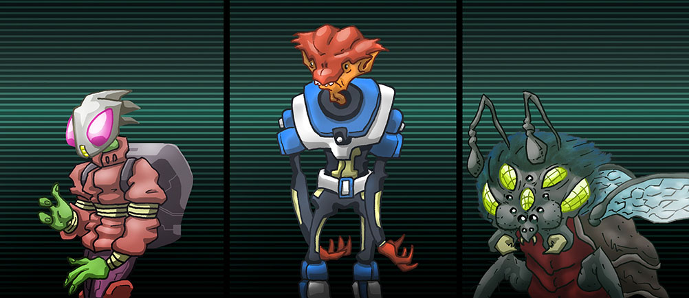 3 Aliens by MatWashburn
