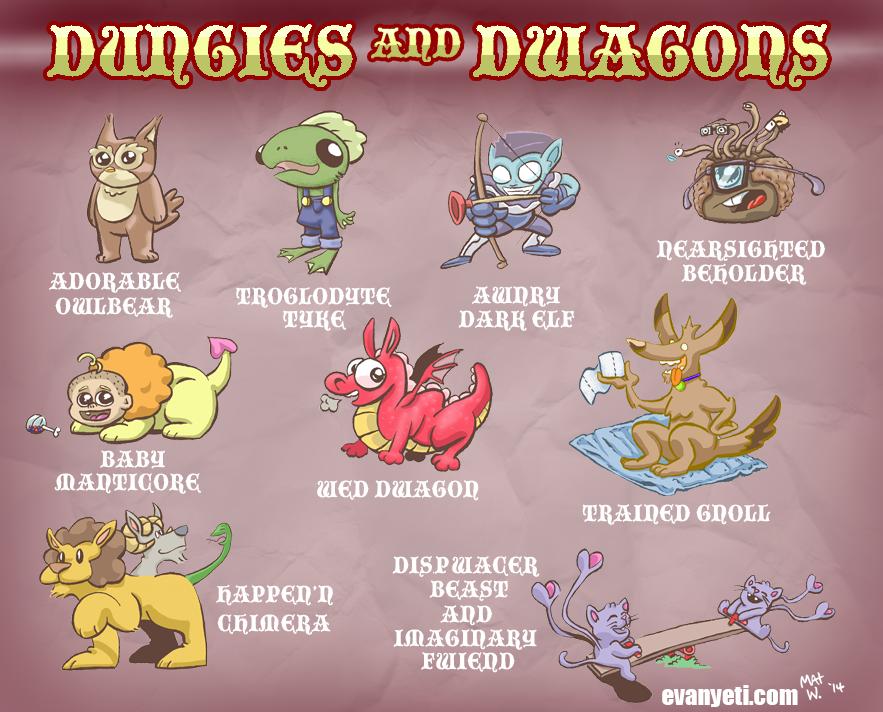 Dungies and Dwagons by MatWashburn