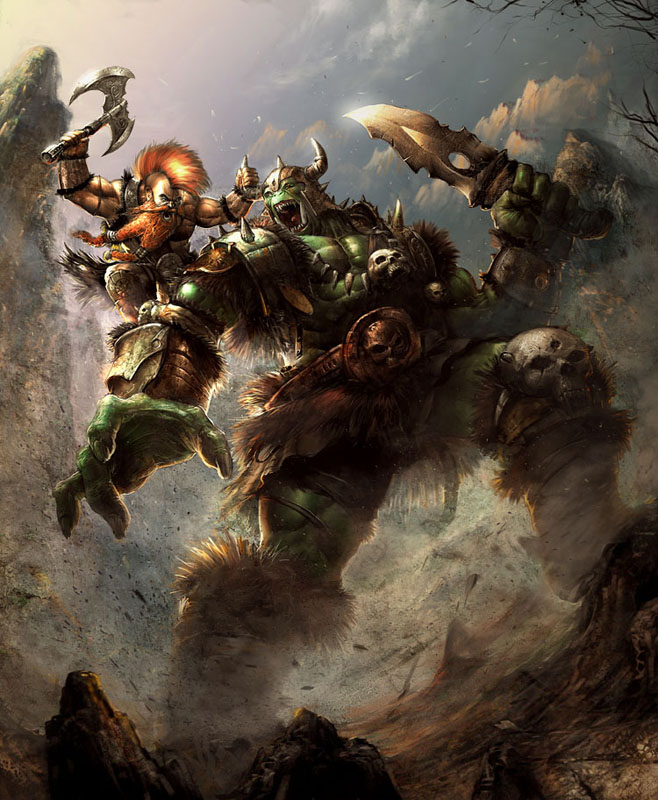 ork  and dwarf prff by N-ossandon-Nezt