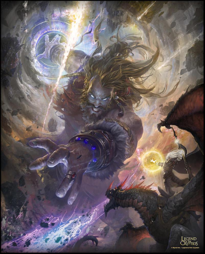 Gods battle by N-ossandon-Nezt