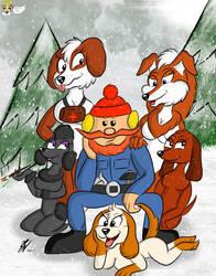 Yukon Cornelius and his dogs by LightLuxCollie