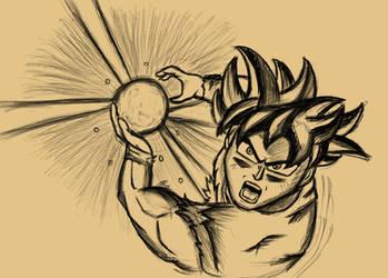 Ultra Instinct Goku sketch by LightLuxCollie