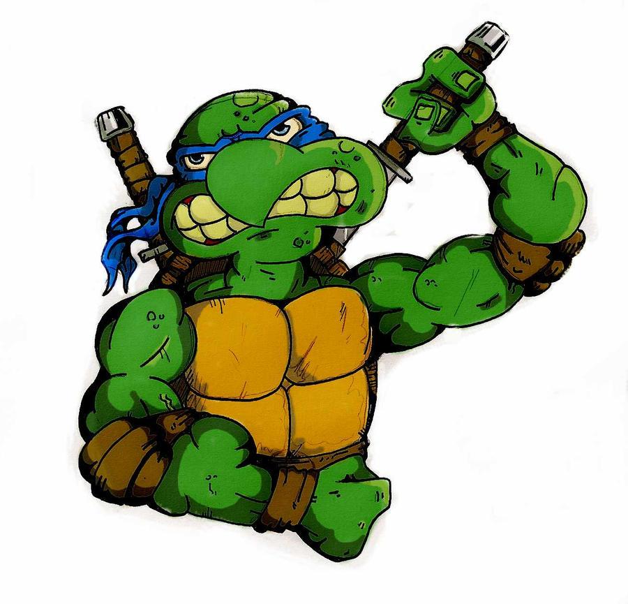 Turtle Power fan-art!  Leonardo_by_thomart89-d47rmik