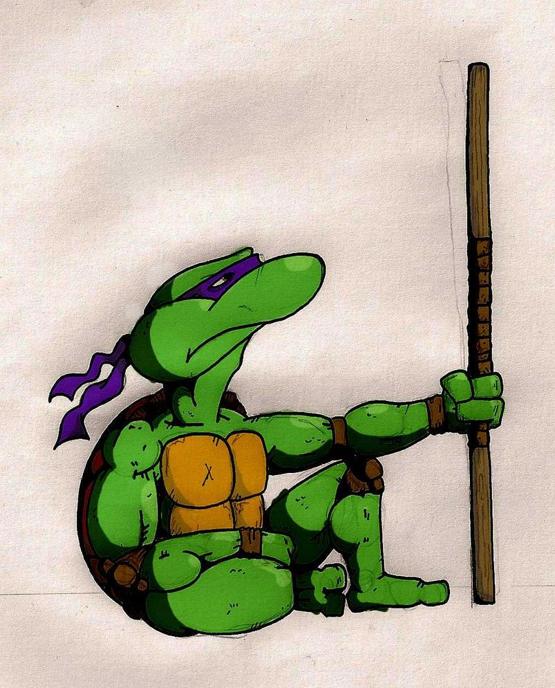 Turtle Power fan-art!  Thoughtfull_donatello_by_thomart89-d487z20