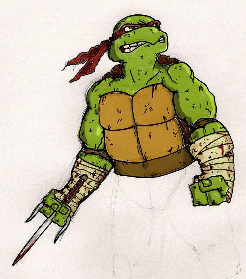 Turtle Power fan-art!  Battle_scared_raph_by_thomart89-d488rv2