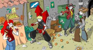 Ninja Firecrackers comission