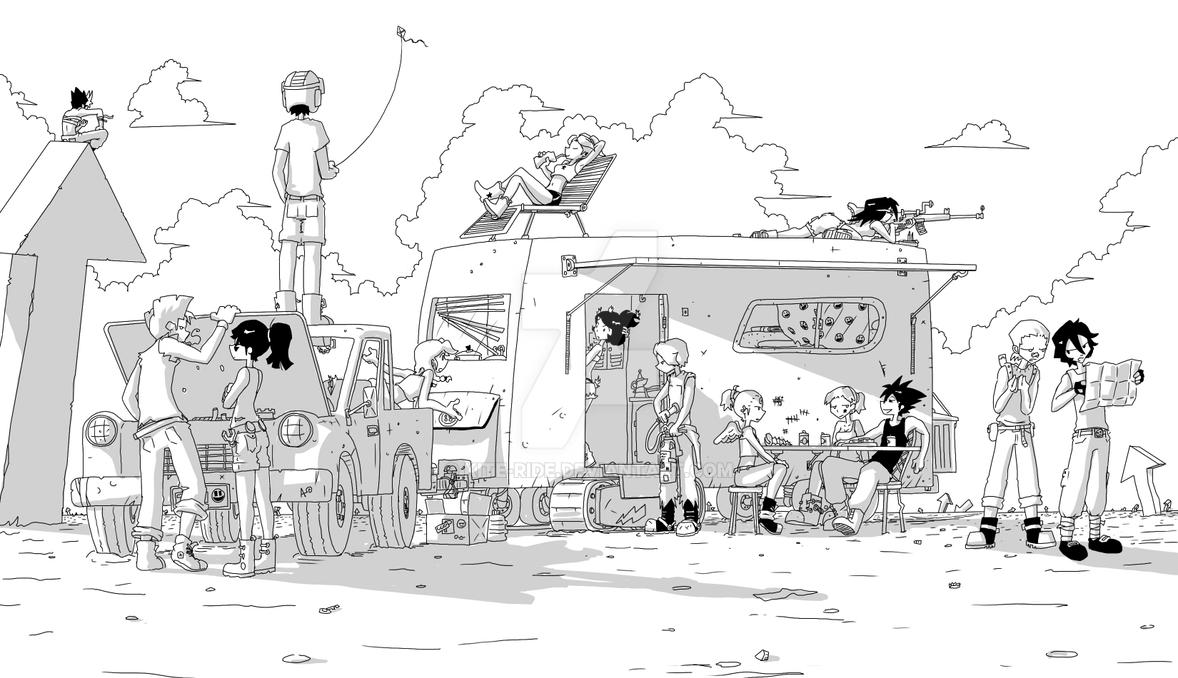 Wasteland Trucking by Kite-ridE