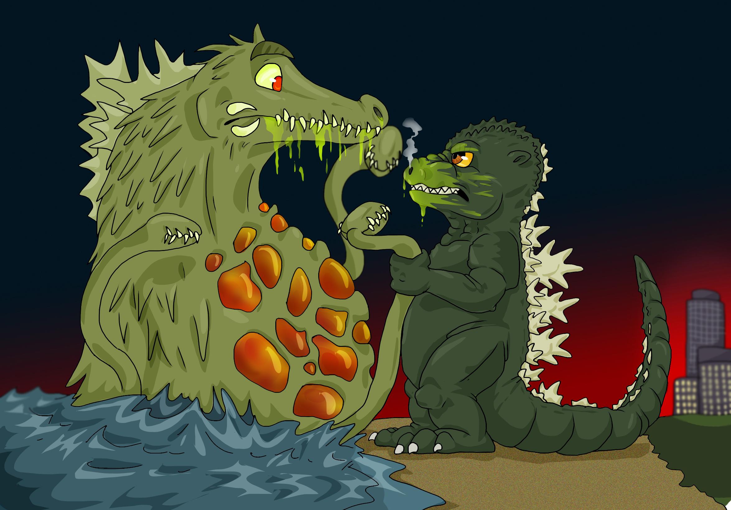 Godzilla vs Biollante by Natsuakai on DeviantArt