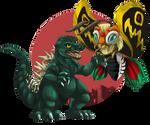 Godzilla and Mothra Virgo by Natsuakai