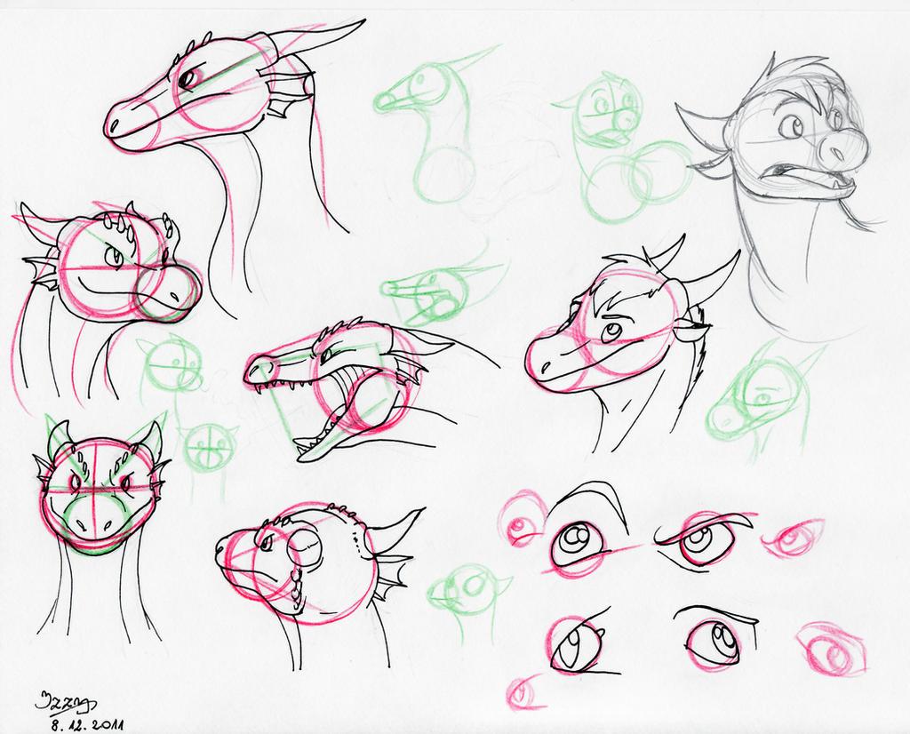 Dragon head Tutorial by Natsuakai