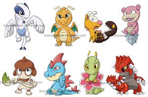 Chibi Pokemon stuff 2 by Natsuakai