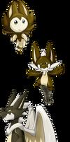 Fakemon #065-067 by Natsuakai