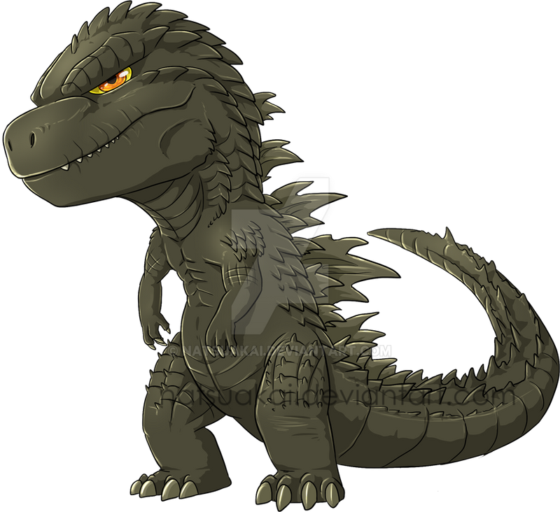 Chibi Godzilla 2014 by Natsuakai