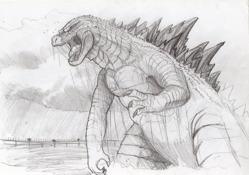 Godzilla sketch by Natsuakai
