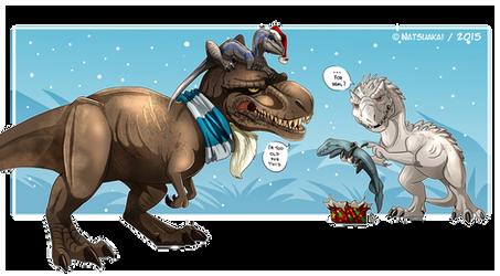 Jurassic Christmas by Natsuakai